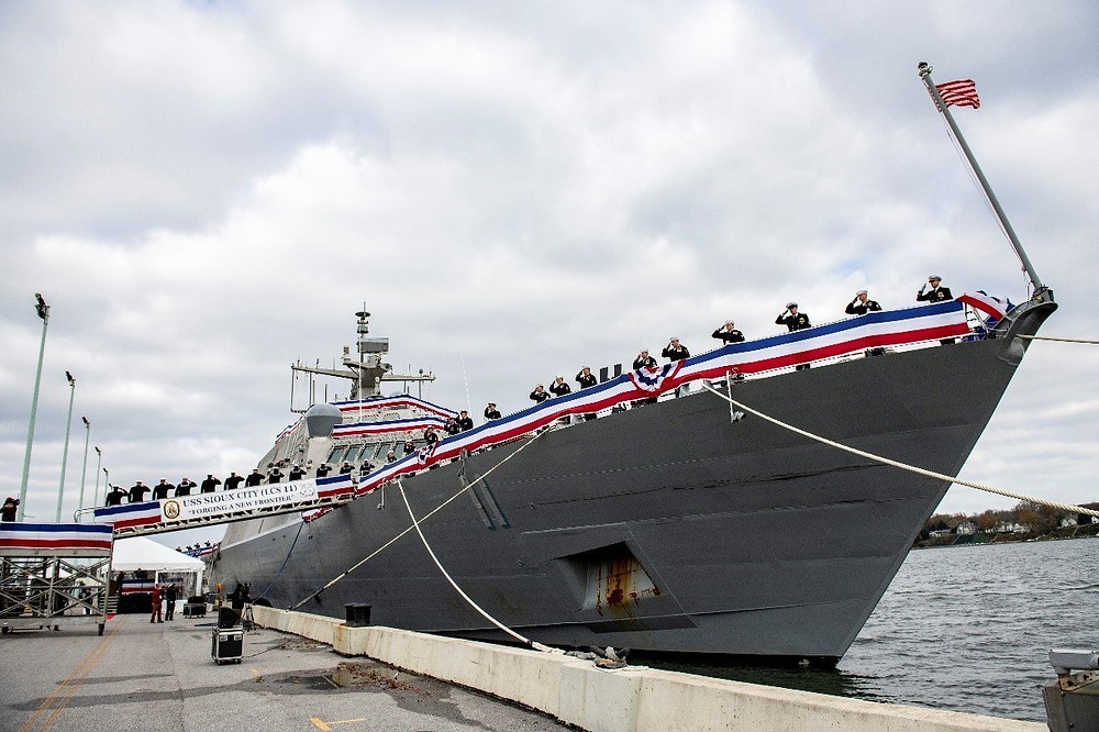 US Navy commissions Littoral Combat Ship 11 (Sioux City)
