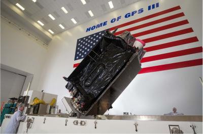 Second Lockheed Martin-built GPS III satellite for the US Air Force arrives In Cape Canaveral for July launch