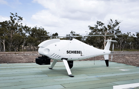 Schiebel CAMCOPTER S-100 successfully demonstrates new COMINT and imaging payloads to Australian Arm