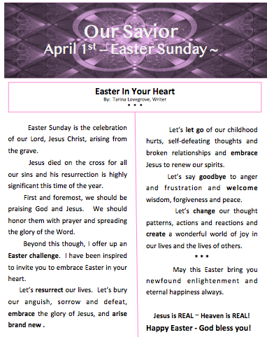 Easter In Your Heart