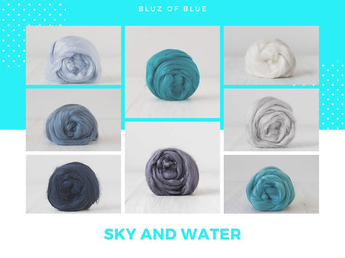 Mix of Viscose - Bluz of Blue, 200 grams