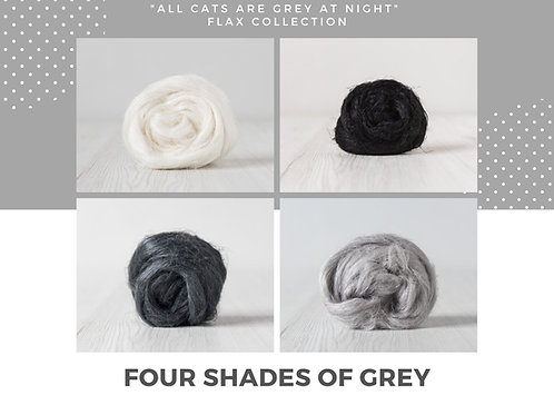 Four Shades of Grey Flax Collection, 150 grams