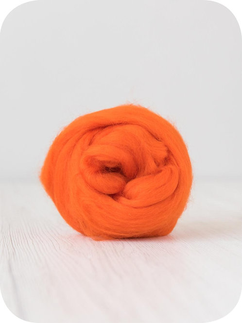 19 mic Superfine Merino Wool - Orange, 50 g (1.76 oz)