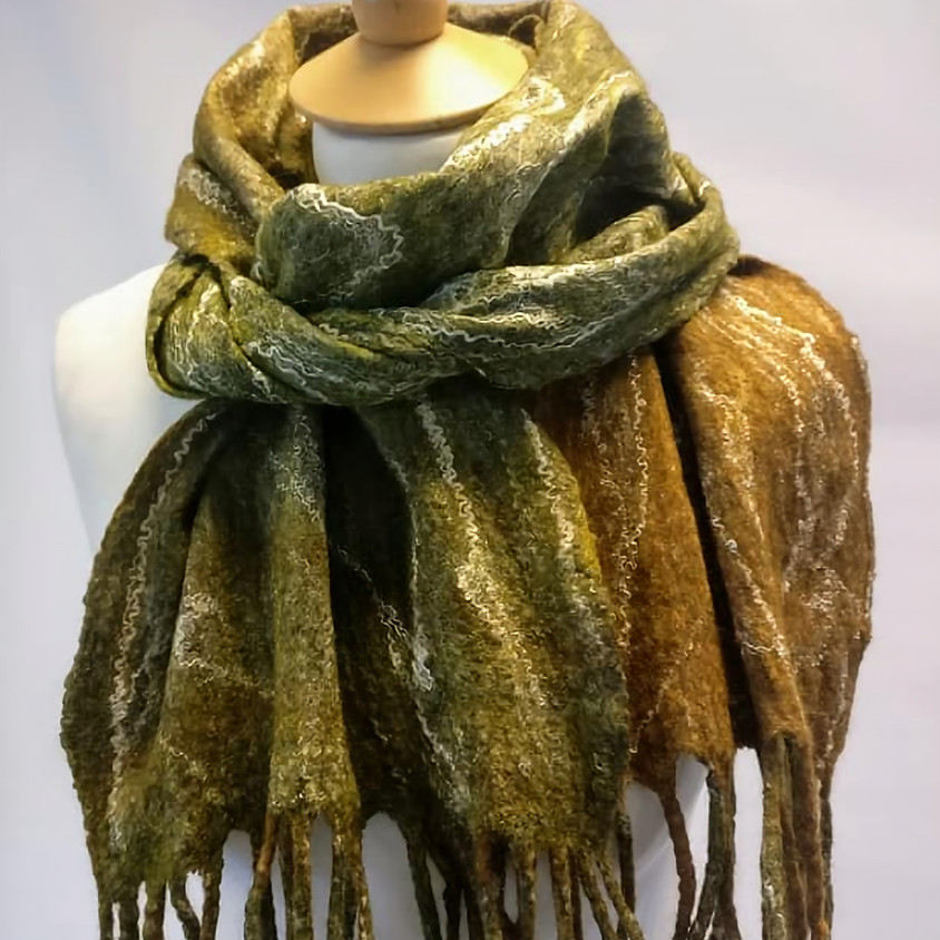 Workshop: Nuno felted unisex scarf
