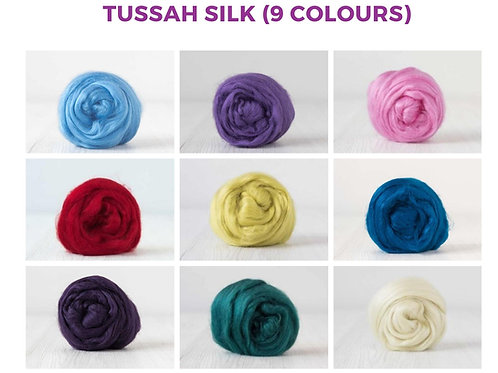 Tussah Silk - 9 colours, 180 grams (6.35 oz)