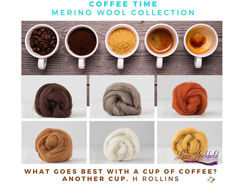 Mix of Merino Wool - Coffee Time, 200 grams