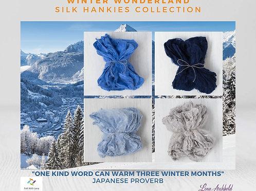 Silk Hankies Collection - Winter Wonderland, 20 grams