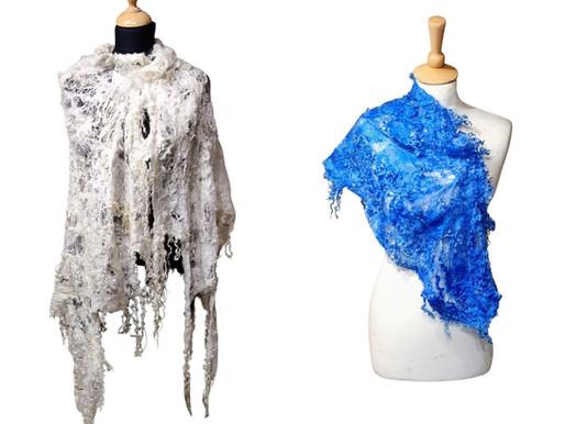 Let's Dye a Cobweb Scarf with Fleeces