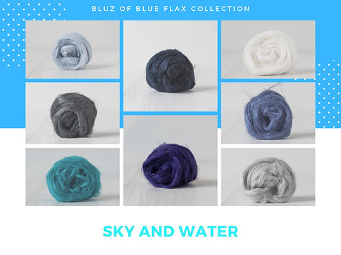 Sky and Water Flax Collection, 200 grams