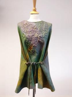 Nuno felted dress viscose laminated