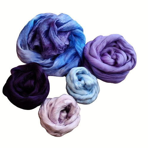 Nuno Felted Materials Pack -Purple / Blue