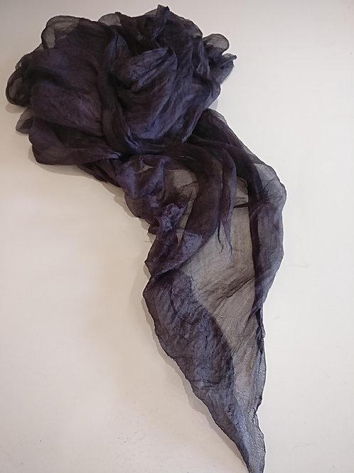 Black Margilan rarefiedand hand-dyed silk, 2.5 meters