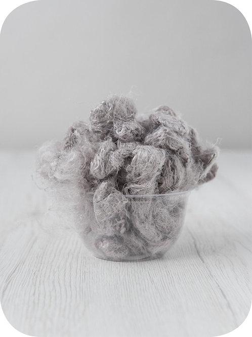 Sari silk waste - CLOUD, 20 grams