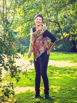 wet felted embellished waistcoat