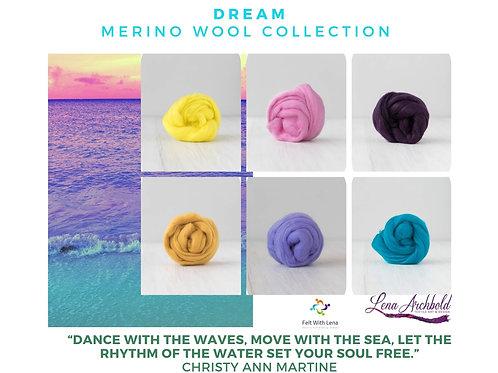 Mix of Merino Wool - Dream, 200 grams