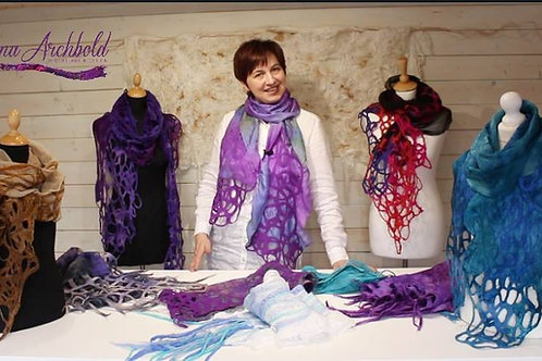 Nuno Felted Scarf with Felted Lace Online Class