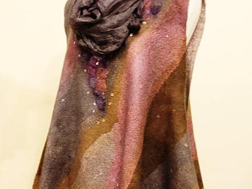 Dyeing Margilan silk.  One, Two Three, easy....
