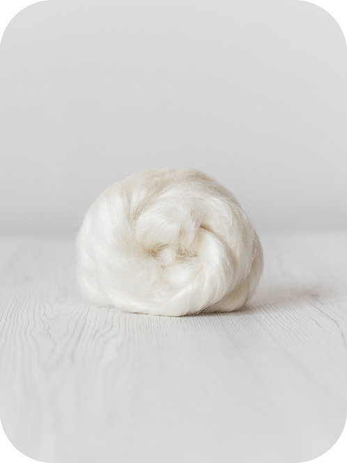 Tussah Silk - Natural White, 50 g
