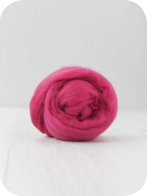 19 mic Superfine Merino Wool - Rasberry, 50 g (1.76 oz)