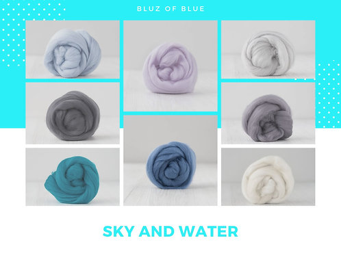 Mix of Merino Wool - Bluz of Blue, 200 grams
