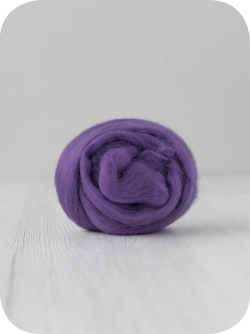 19 mic Superfine Merino Wool - Violet, 50 g (1.76 oz)