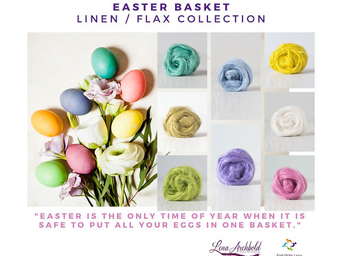 Flax Collection Easter Basket, 200 grams