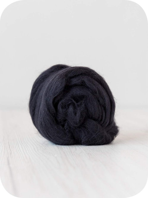 19 mic Superfine Merino Wool - Seal, 50 g (1.76 oz)