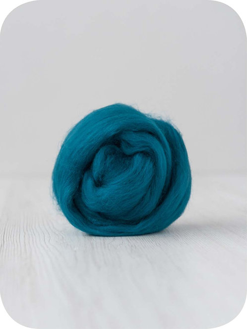 19 mic Superfine Merino Wool - Teal, 50 g (1.76 oz)