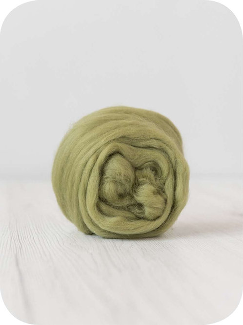 19 mic Superfine Merino Wool - Asparagus, 50 g (1.76 oz)