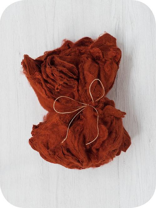Silk Hankies - RUST, 10 grams