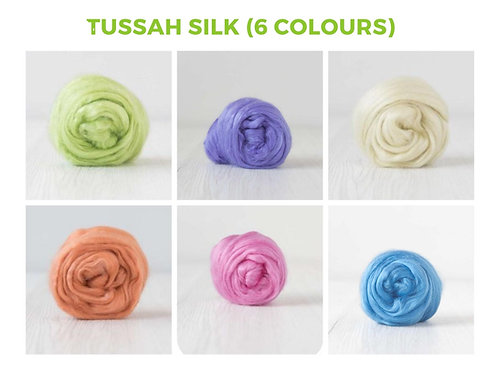Tussah Silk - 6 colours, 120 grams (4.23oz)