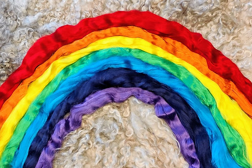 Mix of Viscose - Rainbow, 200 grams