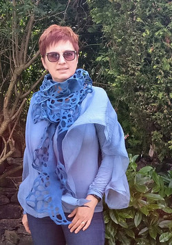 Wet felted scarf Tyne and Wear
