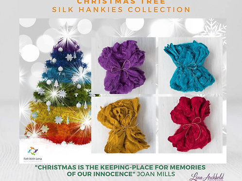 Silk Hankies Collection - Christmas Tree, 20 grams