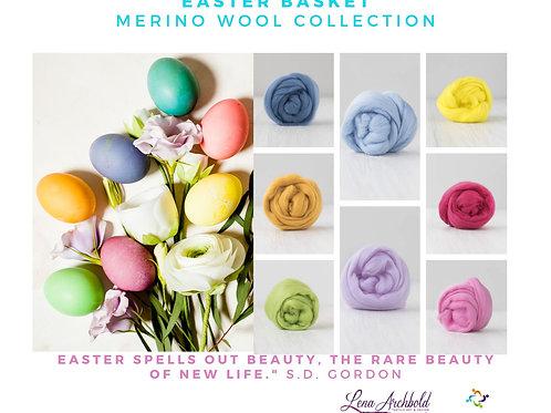 Mix of Merino Wool - Easter Basket, 200 grams