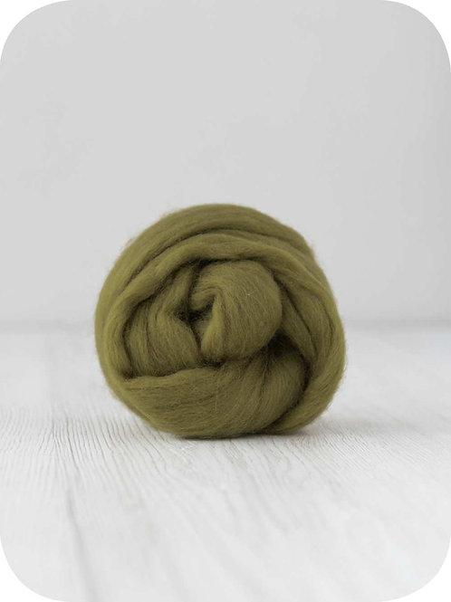 19 mic Superfine Merino Wool - Olive, 50 g (1.76 oz)