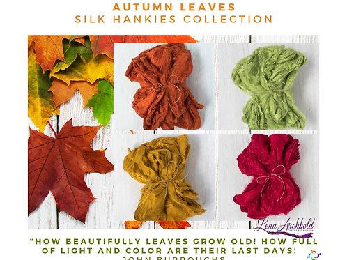 Silk Hankies Collection - Autumn Leaves, 20 grams