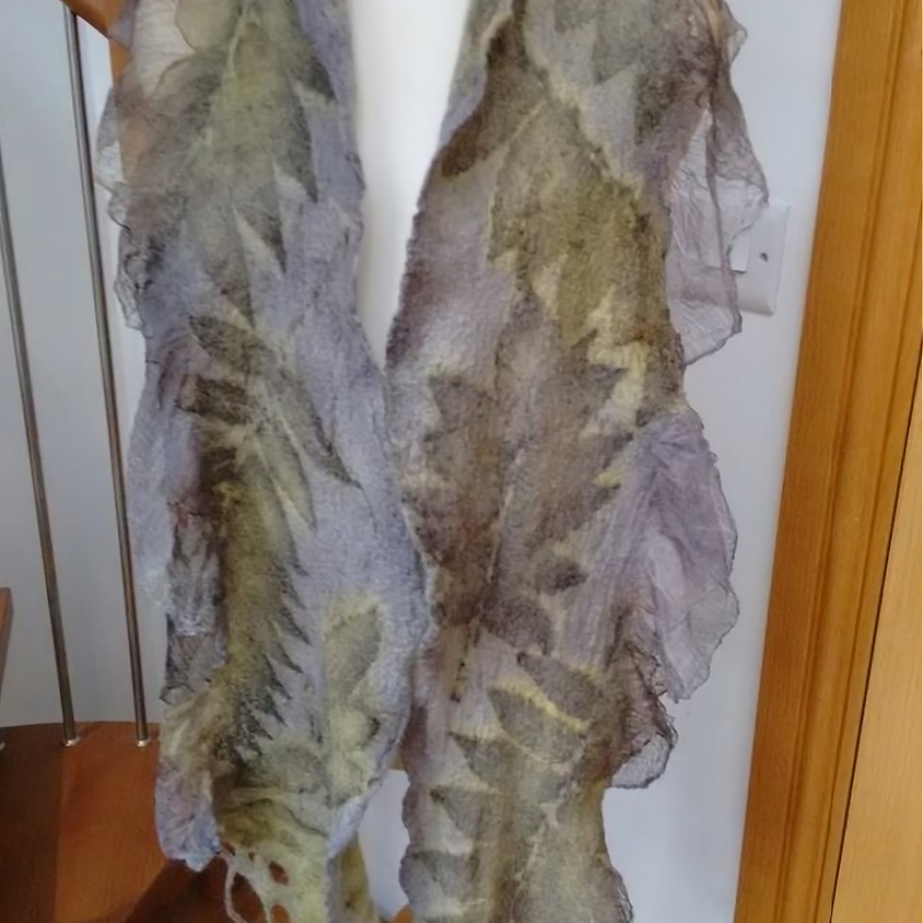 Nuno Felted and eco printed scarf workshop