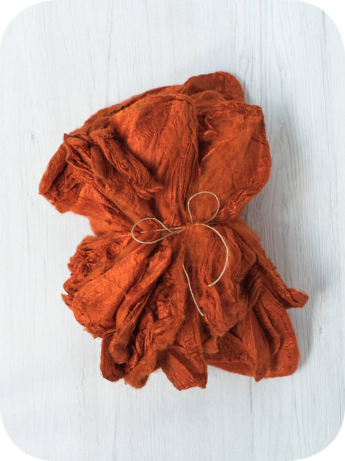 Silk Hankies - PUMPKIN, 10 grams