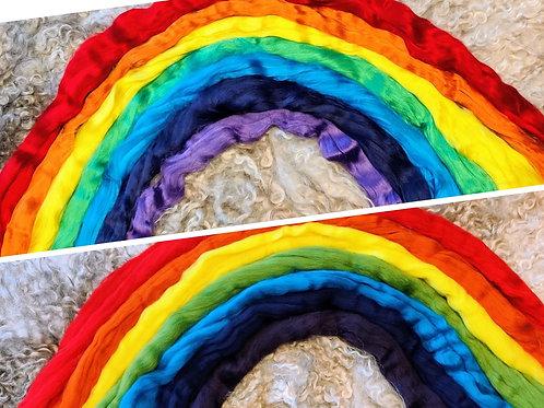 Mix of Merino Wool & Viscose- Rainbow, 400 grams
