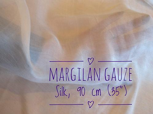 90 cm width. Margilan gauze silk per meter