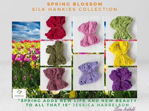 Silk Hankies Collection - Spring Blossom, 40 grams