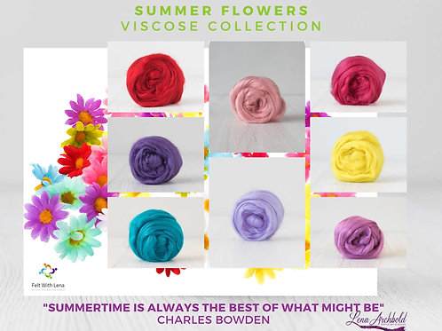 Mix of Viscose - My Summer Flowers, 200 grams