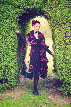 Nuno felted shawl by Lena Archbold