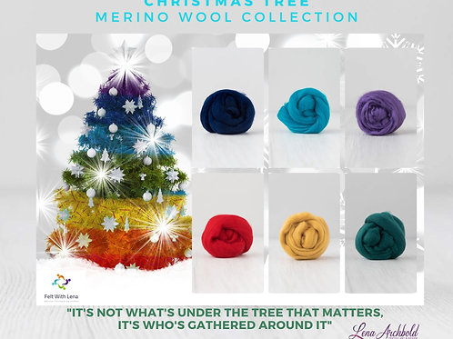 Mix of Merino Wool - Christmas Tree, 200 grams