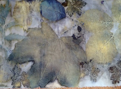 Printing with leaves: eco printing / botanical printing / contact printing and my journey.