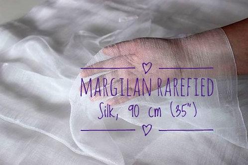 90 cm width. Margilan rarefied hand-woven silk per meter
