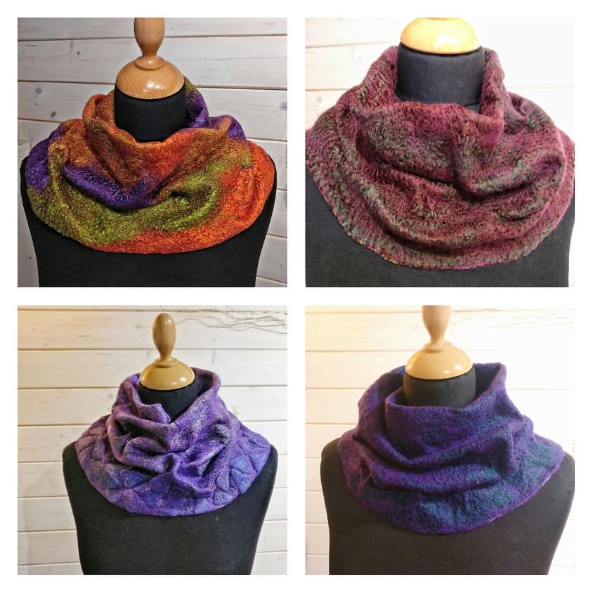 Fine felted neck warmer workshop