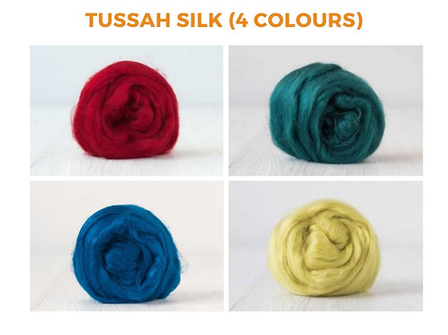 Tussah Silk - 4 colours, 100 grams (3.52 oz)