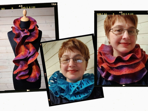 Let's ruffle, let's create ruffle scarves and play with colours